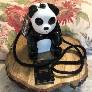 TIMMY WOODS handcarved Panda Purse RARE NEW w/cert